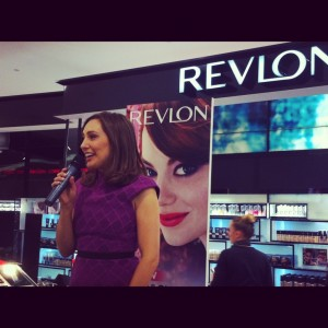 Beauty guru Zoe Foster speaking at the Revlon/Myer makeup workshop. | Photo: Sharon Green