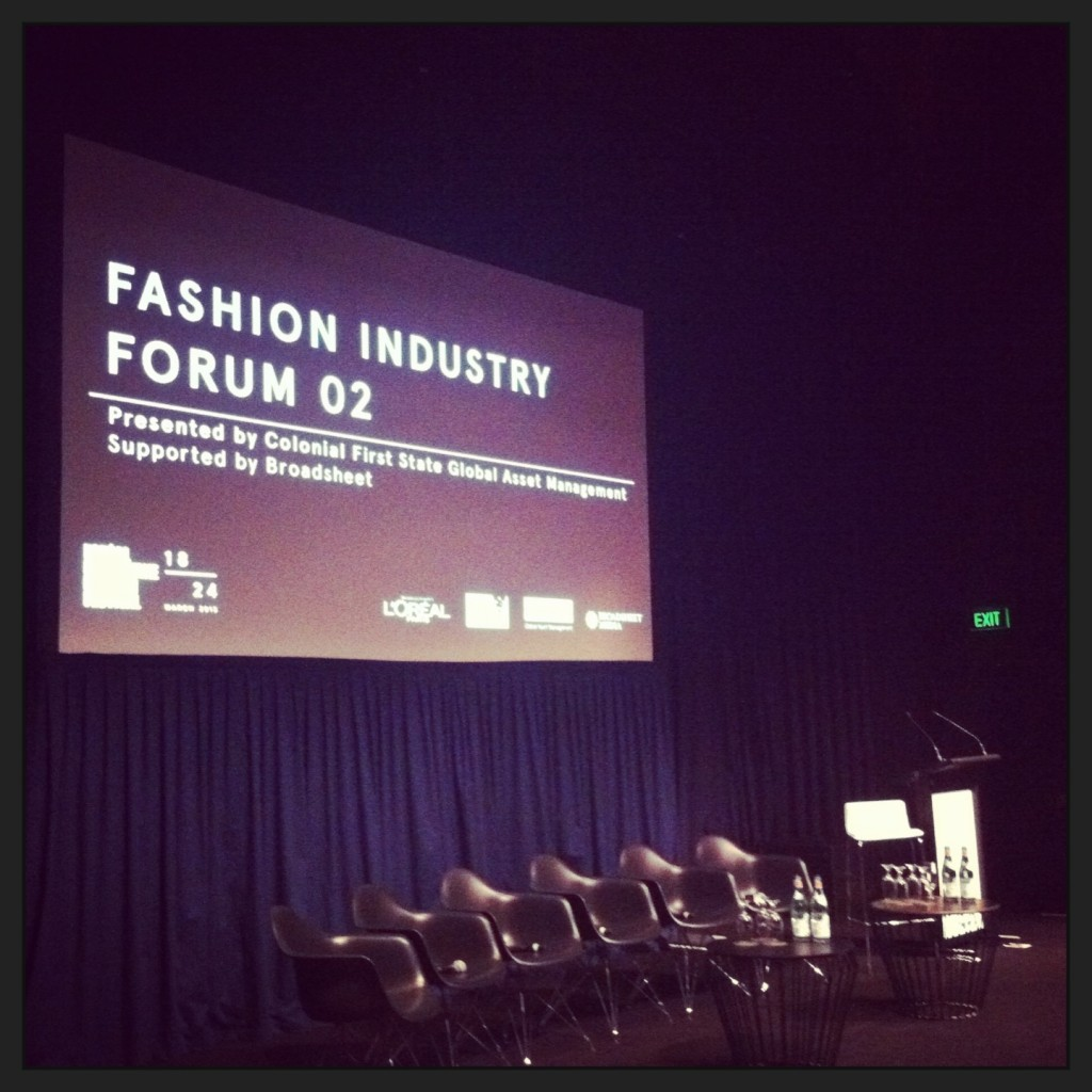 The Fashion Industry Forum 2 – The Fashion Media Landscape Transformation, part of the business event series at the 2013 L'Oreal Melbourne Fashion Week